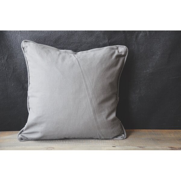Patina Vie French Stitch 100% Cotton Throw Pillow by Patina Vie
